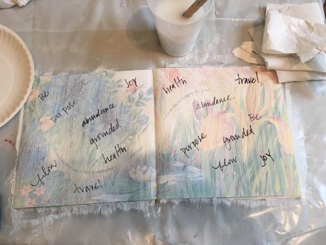 manifesting 2016 art journaling words