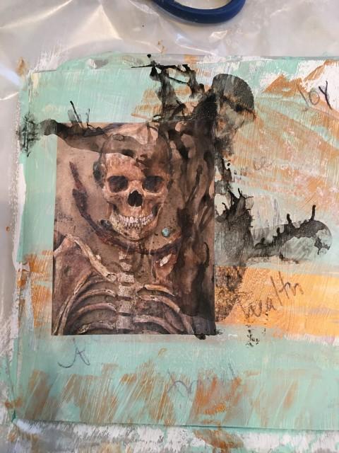 skeleton manifesting 2016 art journaling